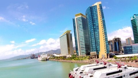 A view of the Port of Spain International Waterfront Centre – home of InvesTT  Photo: InvesTT