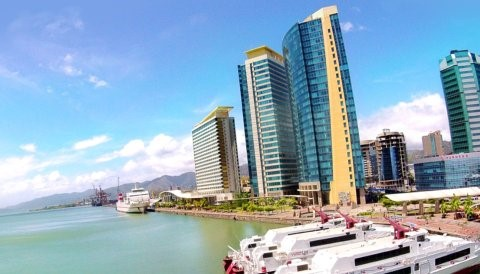 A view of the Port of Spain International  Waterfront Centre (Photo: invest.co.tt)