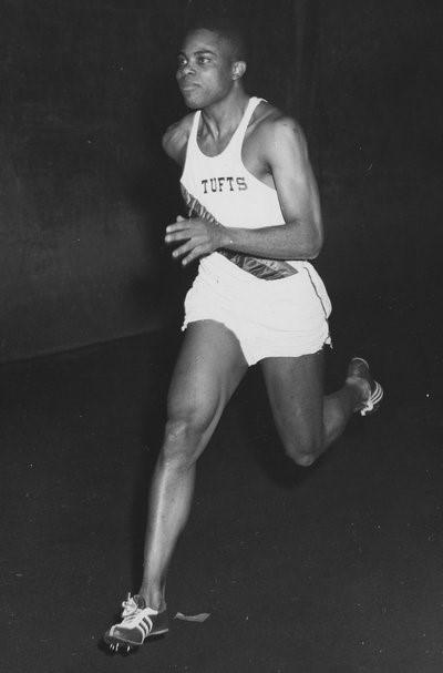 Tufts University Track Runner Basil Ince, 1959 (Photo: dl.tufts.edu)