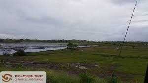 The Pitch Lake at La Brea on the south west peninsula of Trinidad
